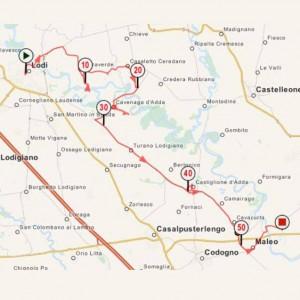 Da Lodi a Pizzighettone, 56 km