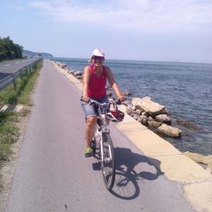 Agosto 2014, pedalando lungo il mare in Slovenia