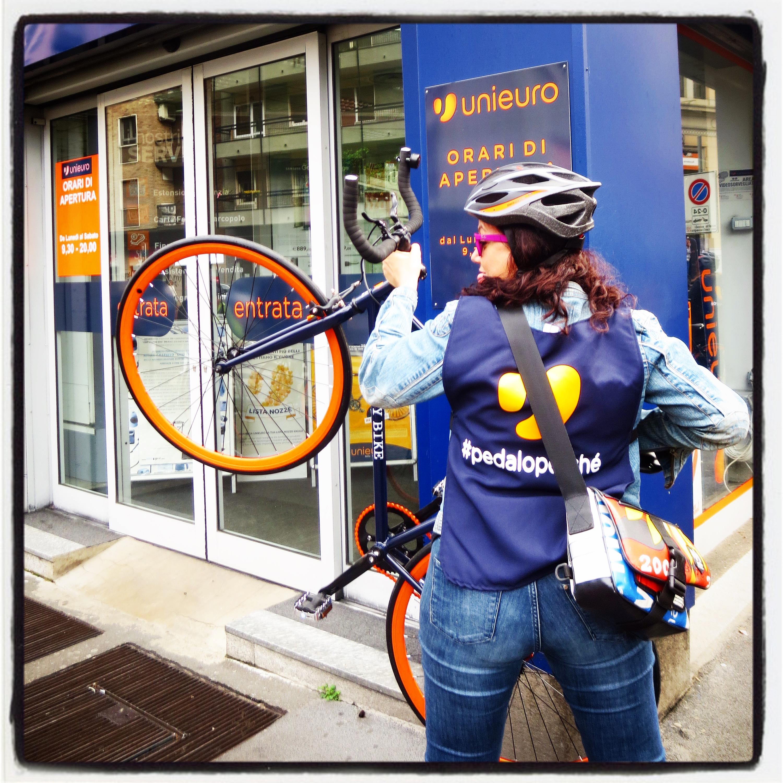 Come una vera Bike messenger!
