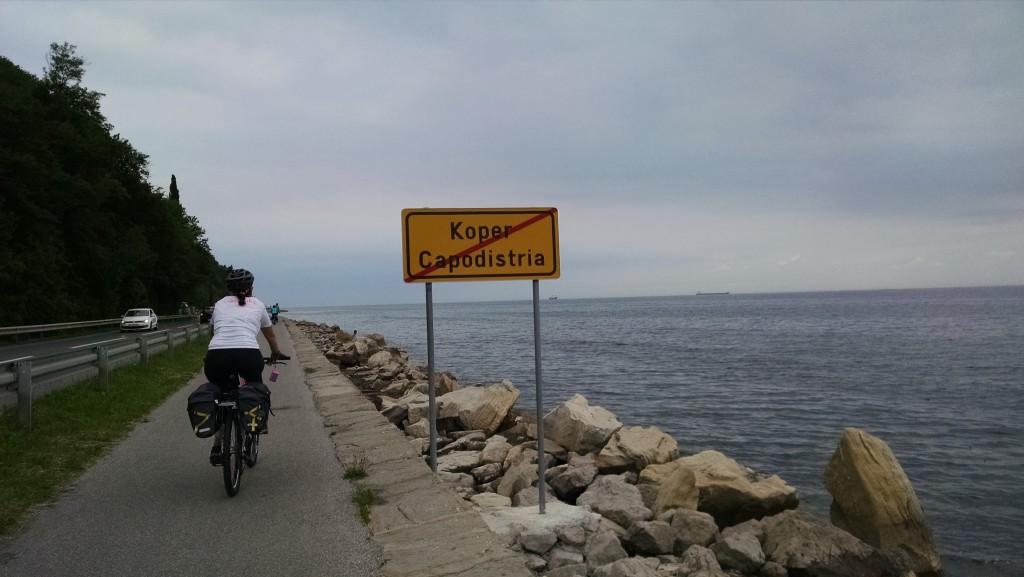Capodistria, la ciclabile verso Isola