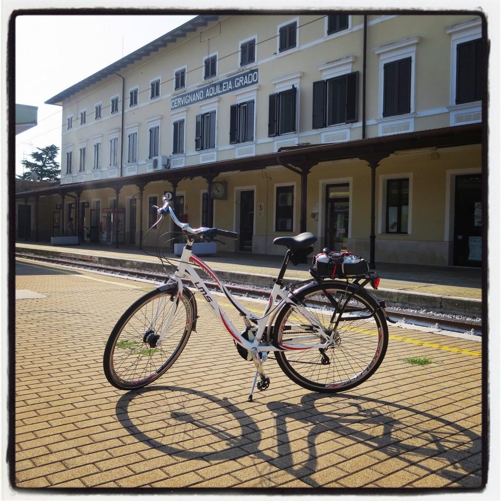 Si parte dalla stazione Cervignano Aquileia Grado